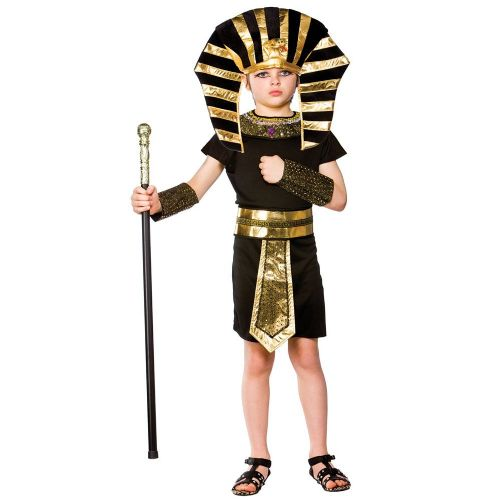 Childrens Boys Egyptian Pharaoh Costume for Ancient Pharaoh Egypt Fancy Dress